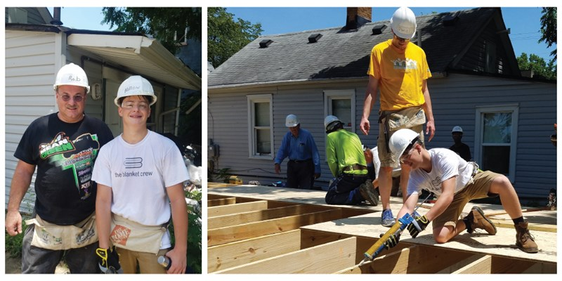 New Foundation team volunteer at a Habitat for Humanity